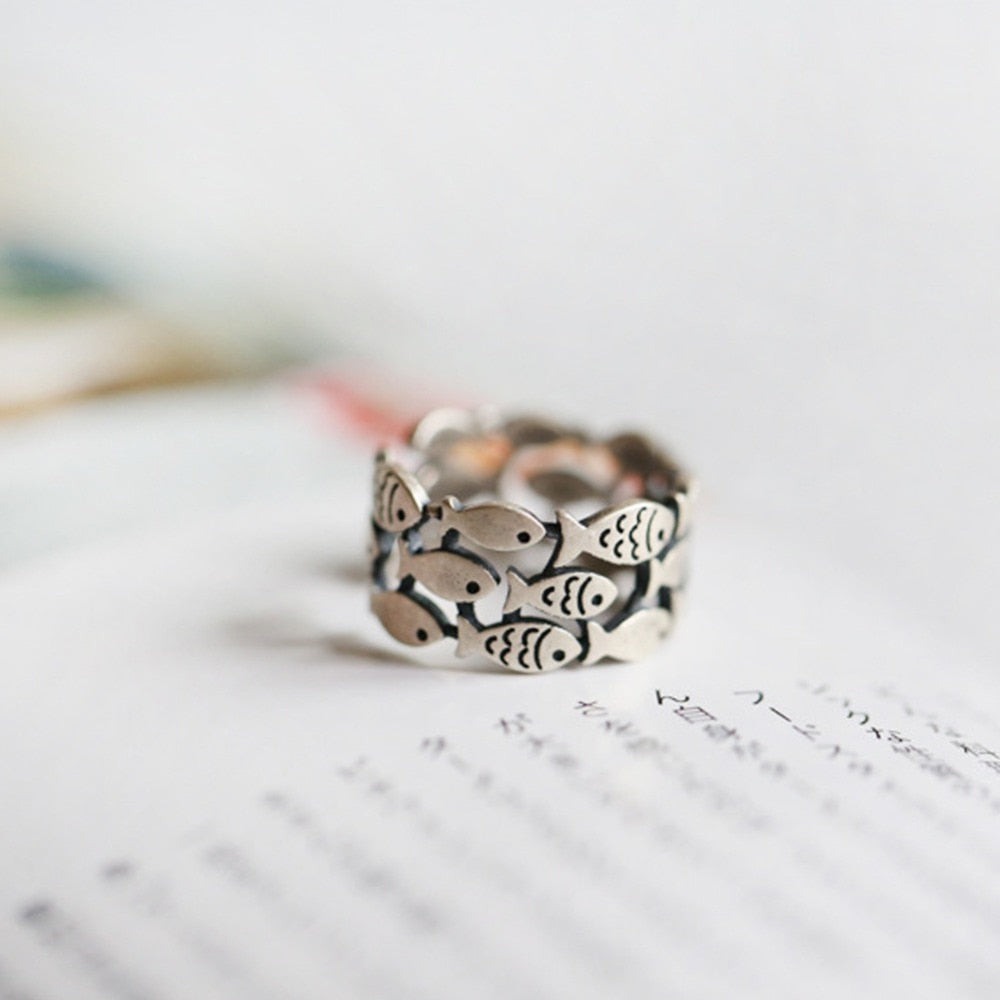 Under The Sea Handmade Adjustable Ring - Trinket Fascinations Jewelry