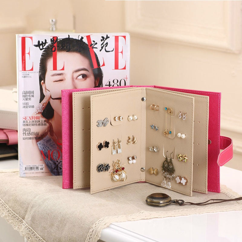 PU Leather Earrings Collection Book & Display Holder