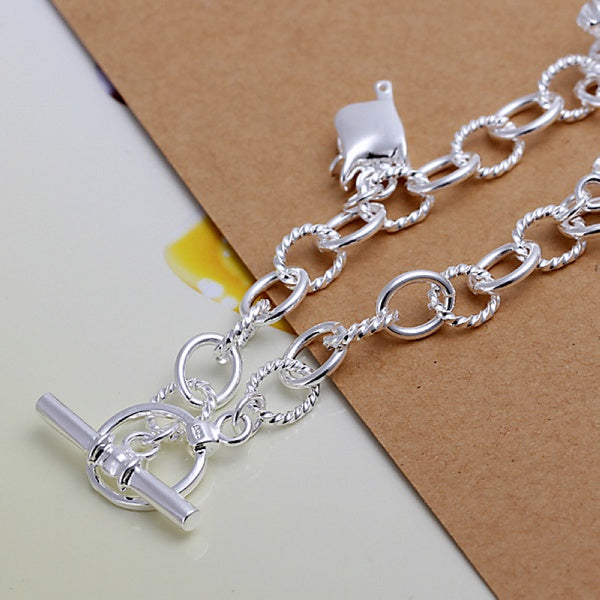 Silver plated exquisite charm bracelet - Trinket Fascinations Jewelry