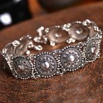 Vintage Ethnic Silver Collar Choker - Trinket Fascinations Jewelry