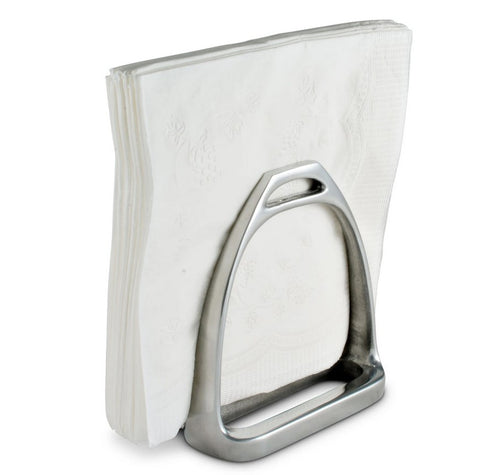 Arthur Court Equestrian Stirrup Napkin Holder