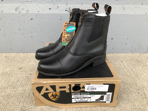 Ariat Kid's Leather Zip Paddock Boots
