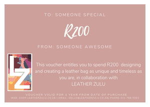 Leather Zulu Gift Card | R200