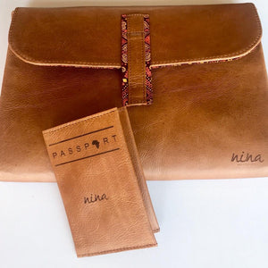 Travel Essentials | Laptop Sleeve & Passport Holder Set-Laptop sleeve-Leather Zulu