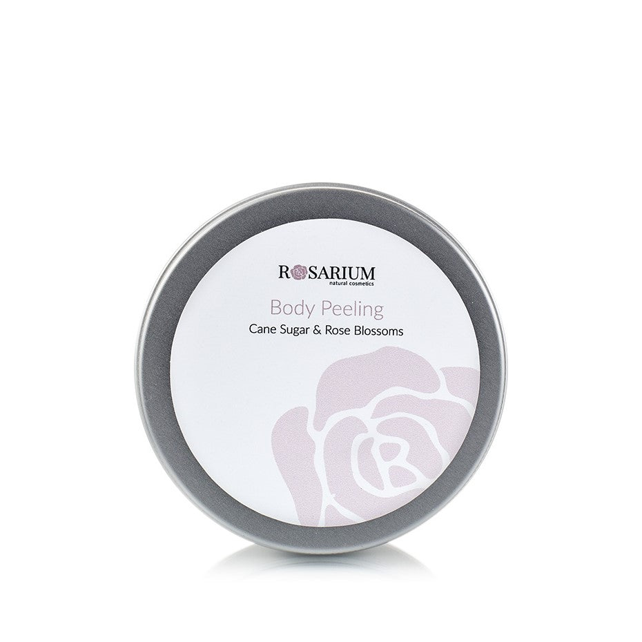 Rose Line - Body Peeling - Cane Sugar & Rose Blossoms 150ml from ROSARIUM Natural Cosmetics