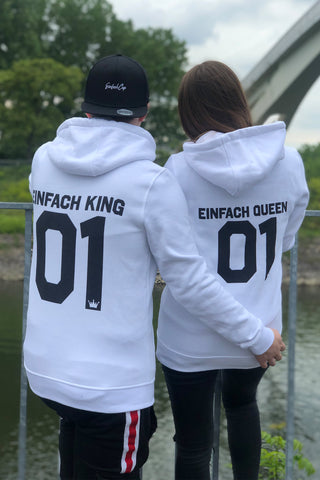 Einfach King and Queen Hoodies