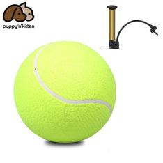 "Jumbo 9.5"" Large Pet Dog Tennis Ball Thrower Chucker Launcher Play Toy w/ Pump"