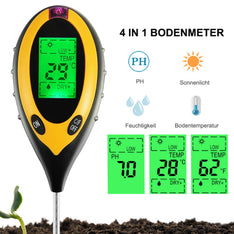 4 in 1 PH Tester Soil Water Moisture Light Test Meter for Garden Plant Seeding