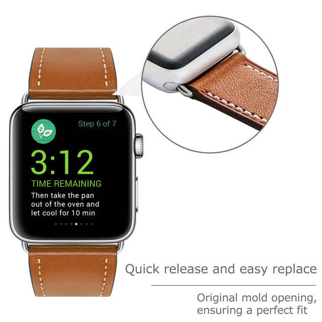 Genuine Leather Wrist Strap For Apple Watch Band 38/40/42/44mm Series 5 4 3 2 1