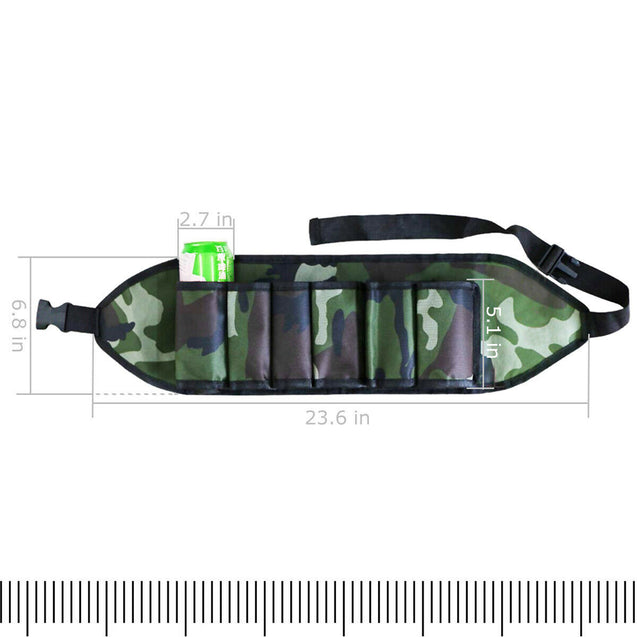 Nylon Beer Belt Holster Camouflage Holds 6 Pack Bottles or Pop Cans