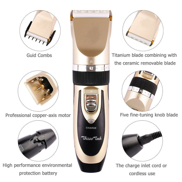 Professional Pet Dog Cat Cordless Electric Clippers Hair Grooming Trimmer Shaver