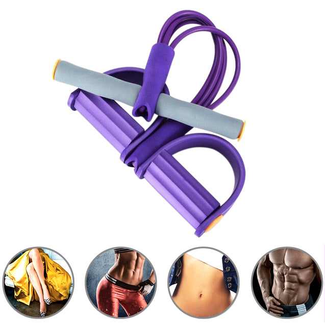 4-Tube Yoga Equipment Sit-up Fitness Foot Pedal Pull Rope Resistance Exercise