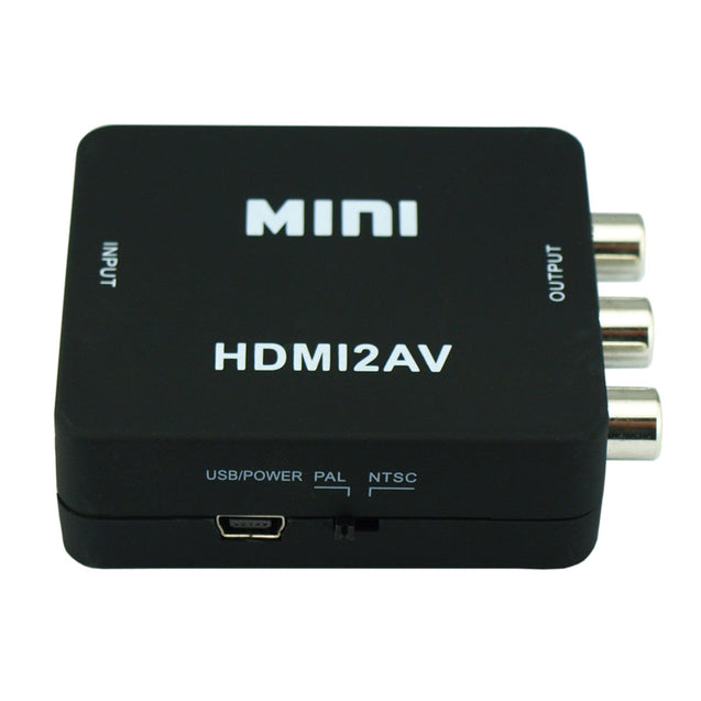 Mini Composite HDMI CVBS RCA to AV Video Converter Adapter 720p 1080p Upscaler - Anyvolume.com