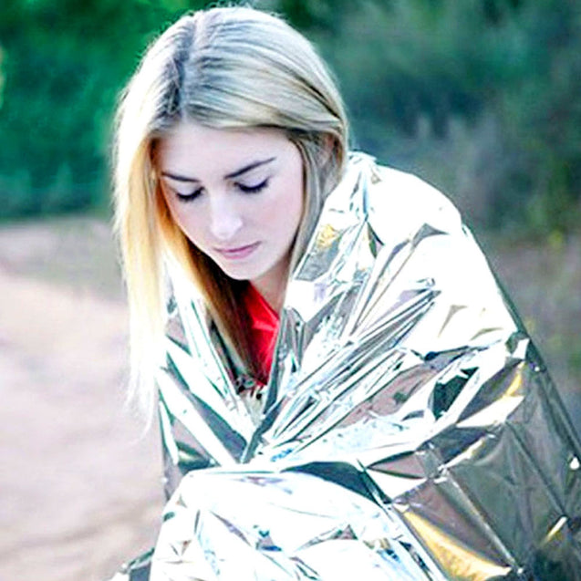 10 Pack - Emergency Solar Blanket Survival Safety Insulating Mylar Thermal Heat - Anyvolume.com