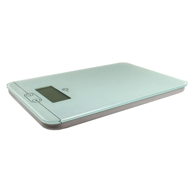 11 LBS / 5KG Digital Kitchen Scale Flat Diet Food Scale w/ Glass Top Low Profile - Anyvolume.com