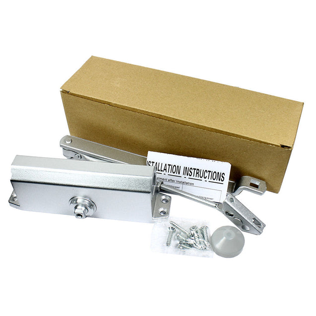 65-85 Kgs Size 4 Commercial Door Closer Silver Aluminium Alloy Heavy Duty - Anyvolume.com