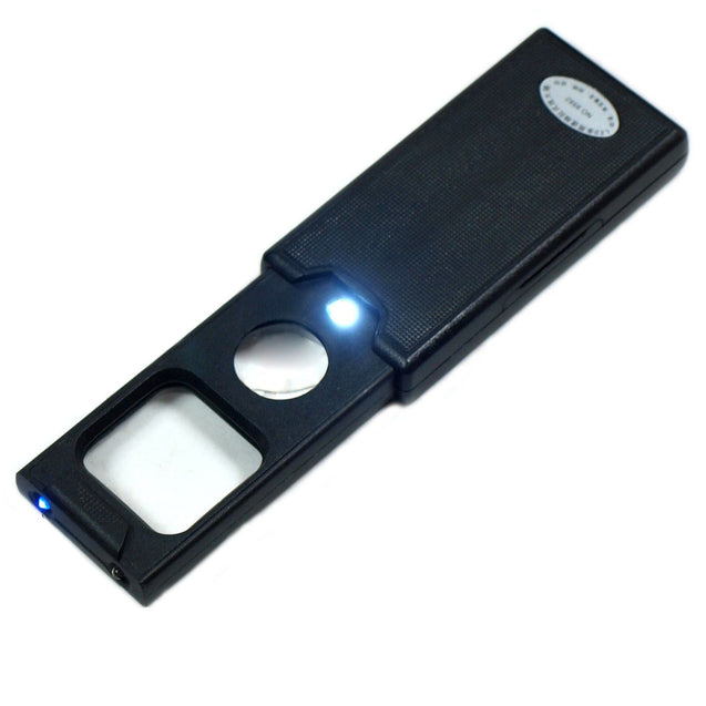 Mini 5X - 45X Jewelers Loupe / Magnifier with LED & UV illumination #9582 - Anyvolume.com