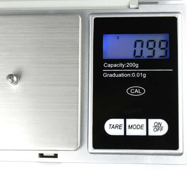 200g x 0.01g Pocket Digital Scale Precision Jewelry Scale - Calibration Weights - Anyvolume.com