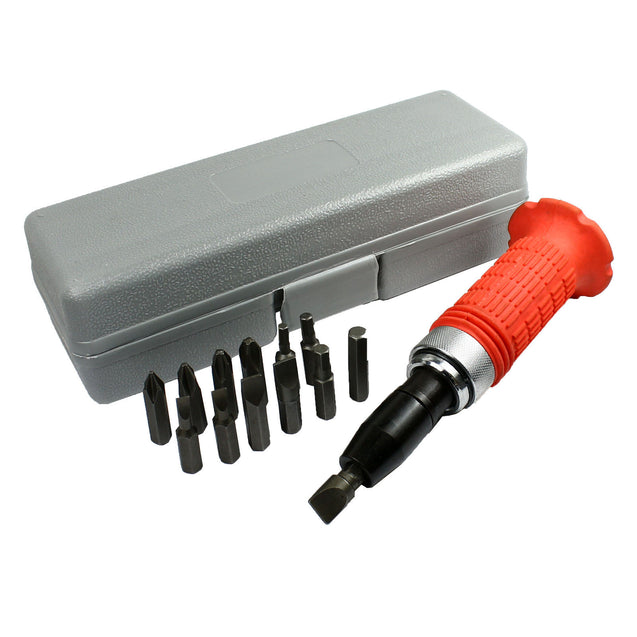 14 Pcs Heavy Duty Impact Driver Bits Screwdriver Set Tool Socket Kit with Case - Anyvolume.com