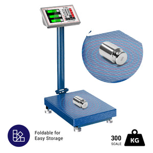 660 lbs - 100g Digital Shipping Postal Scale Folding Floor Steel Platform Scale