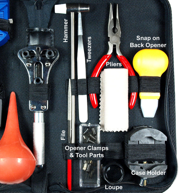 20PCS Watch Repair Tool Kit  - Case Opener - Watch Hand remover - Dust Blower - Anyvolume.com