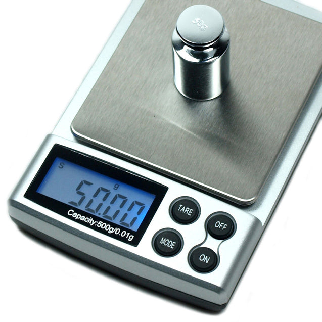 DS-19 500 x 0.01g Digital Pocket Jewelry Scale with Calibration Weights - Anyvolume.com