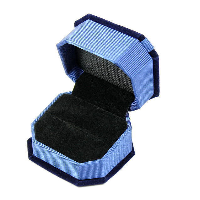 Deluxe Royal Blue Velvet - Satin Bow Ring Jewelry Presentation Display Gift Box - Anyvolume.com