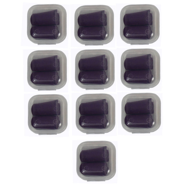 10 Pack Lot Ear Plugs Soft Foam Sleep Travel Noise Canceling Earplugs with Case - Anyvolume.com