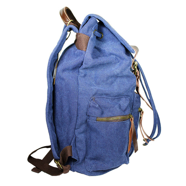 Retro Travel Canvas Backpack Sport Camping  Rucksack Satchel Hiking Bag - Anyvolume.com