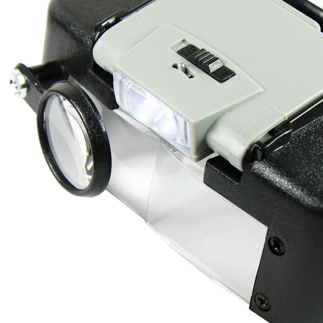 Jewelers Head Headband Magnifier LED Illuminated Visor Magnifying Glasses Loupe - Anyvolume.com