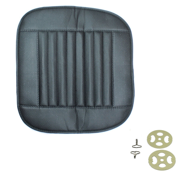 Universal Car Seat Cover PU Leather 3D Breathable Pad Mat for Auto Chair Black - Anyvolume.com