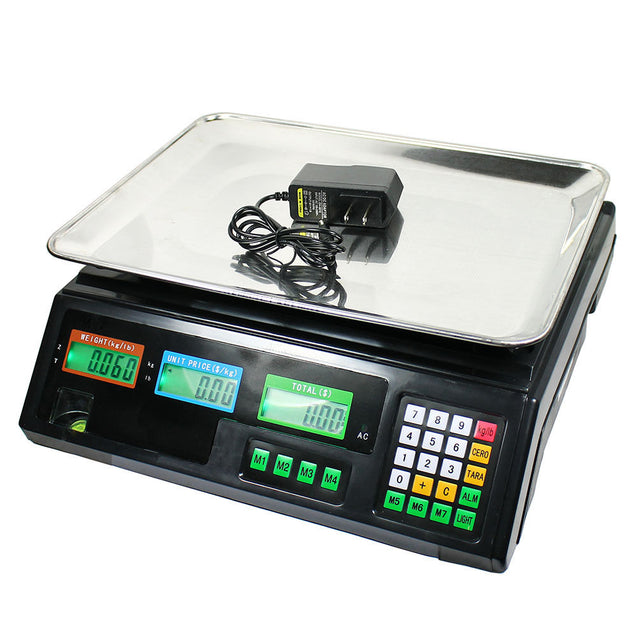 80 LB Digital Weight Scale Price Computing Deli Food Produce Electronic Counter - Anyvolume.com
