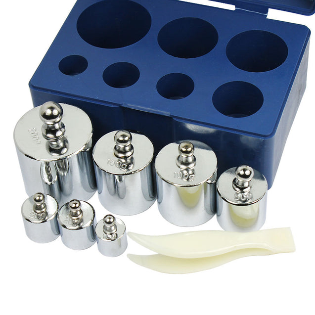 7 pcs calibration weight set 10g 20g 50g 100g 200g  -- 500g  total weight - Anyvolume.com