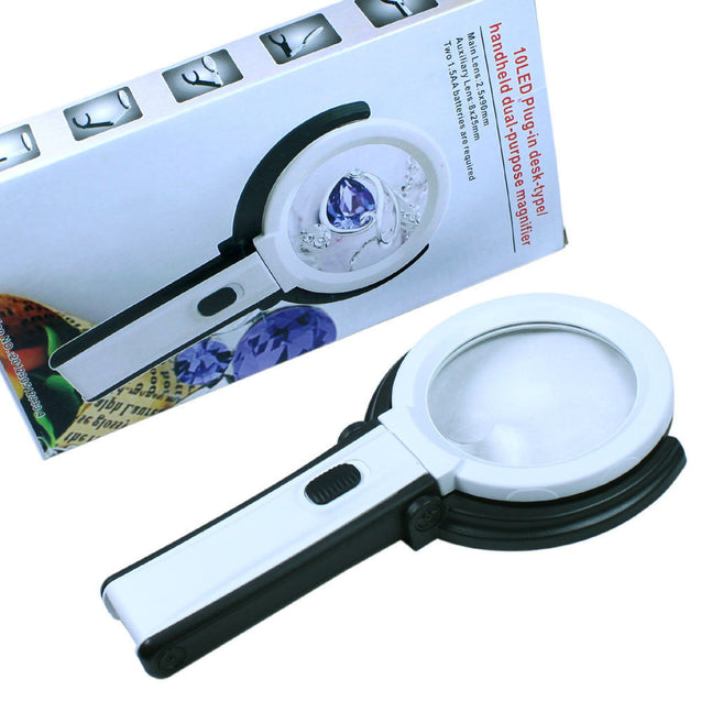 2.5X-8X Foldable LED Lighted Magnifying Lamp Reading Magnifier with USB Charger - Anyvolume.com