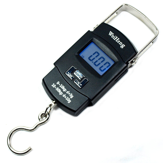 110lbs  5g-10g Dual Accuracy Portable Digital Hanging Scale Fishing / Luggage