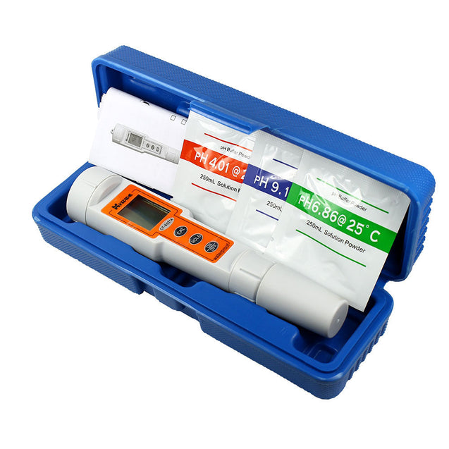 Waterproof Portable pH Meter  Precision Digital pH / Temp Tester - Pen Style - Anyvolume.com