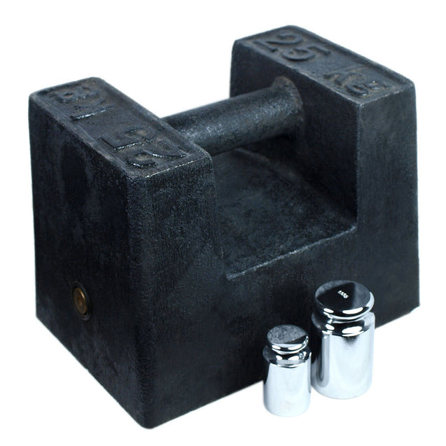25KG Cast Iron Calibration Weight with 200g and 500g Test Weights - Anyvolume.com
