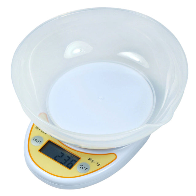 0.1g Digital Kitchen Scale Diet Food Scale with Weighing Bowl 1gx11lbs - Anyvolume.com