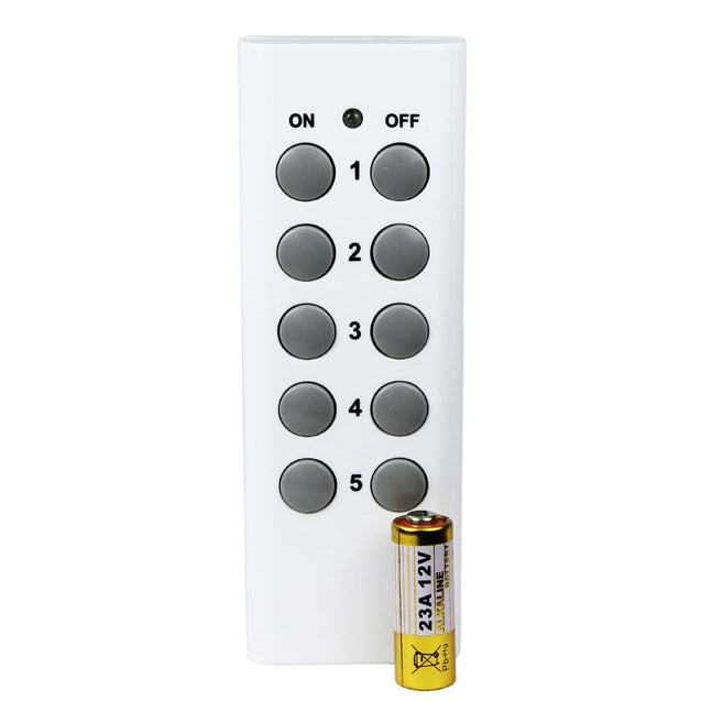5 Pack Wireless Remote Control Power Outlet Light Switch on-off with 2 Remotes - Anyvolume.com