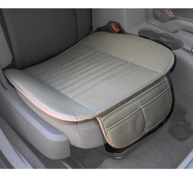 Universal Car Seat Cover PU Leather 3D Breathable Pad Mat for Auto Chair Gray - Anyvolume.com