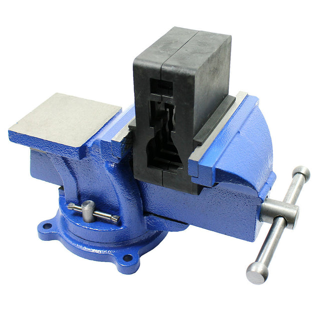 "5"" Heavy Duty Steel Bench Vise with Anvil Swivel Table Top Clamp Locking Base - Anyvolume.com"