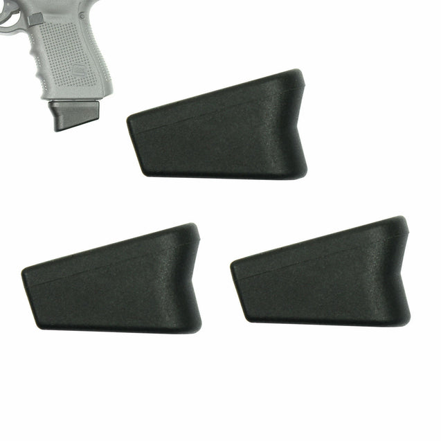 Pack of 3 Magazine Extensions (+2) 9mm Mag Base for Glock 17 19 22 23 26 27 33