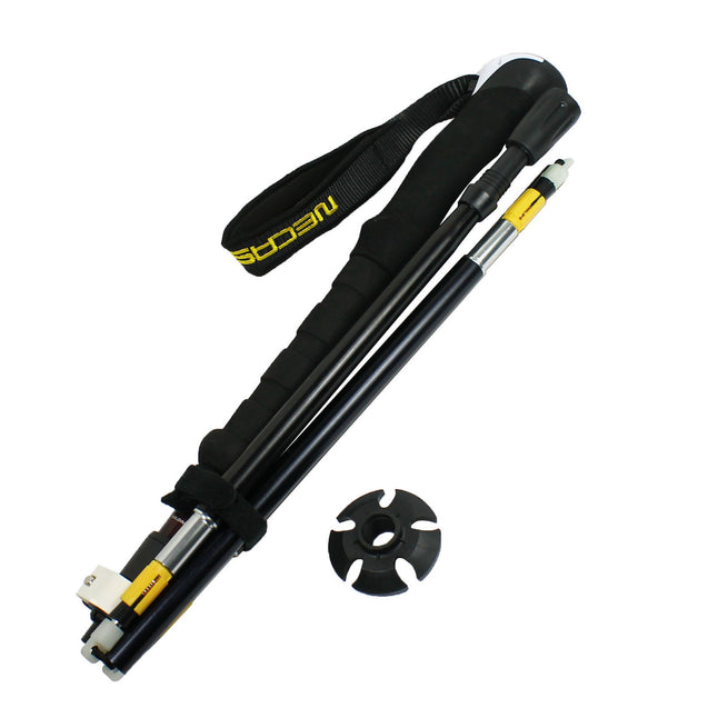Foldable Trekking Walking Hiking Stick Adjustable Anti-Shock Alpenstock Pole - Anyvolume.com