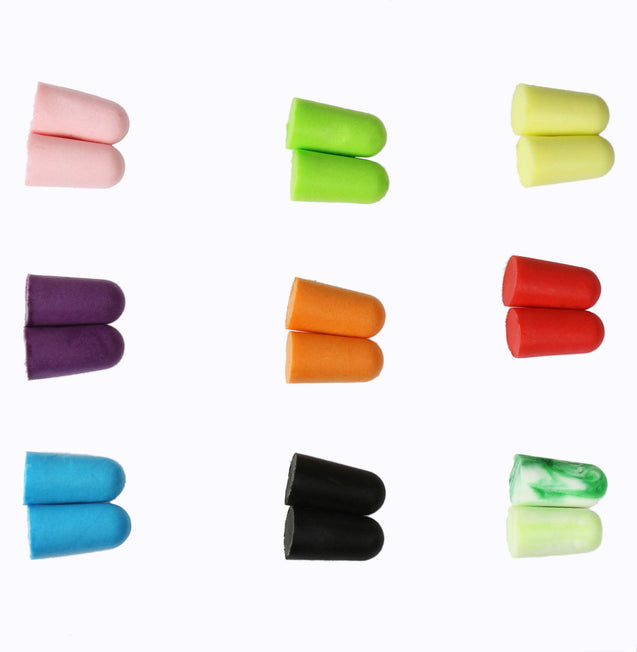 10 Pack Lot Ear Plugs Soft Foam Sleep Travel Noise Canceling Earplugs with Case