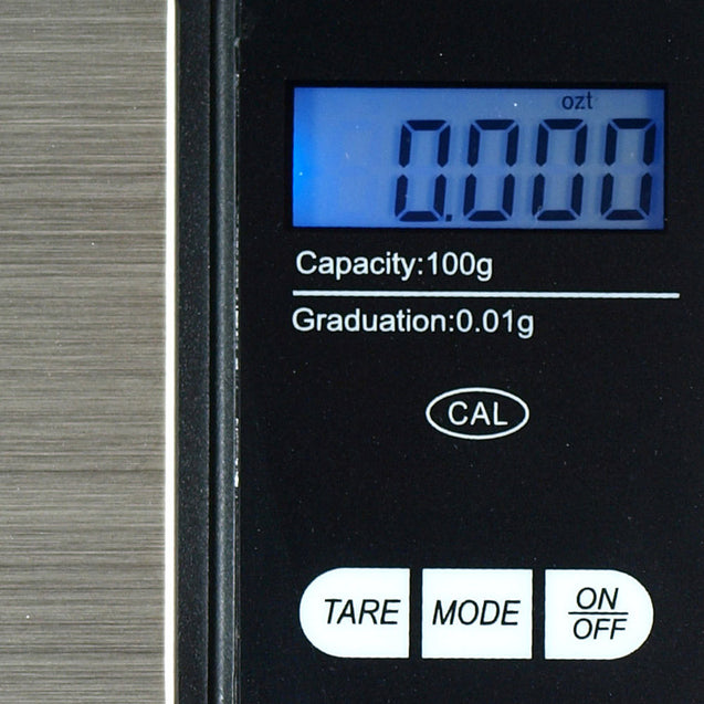 CS-100 100g x 0.01g Digital Pocket Scale Jewelry Scale + Calibration Weight - Anyvolume.com