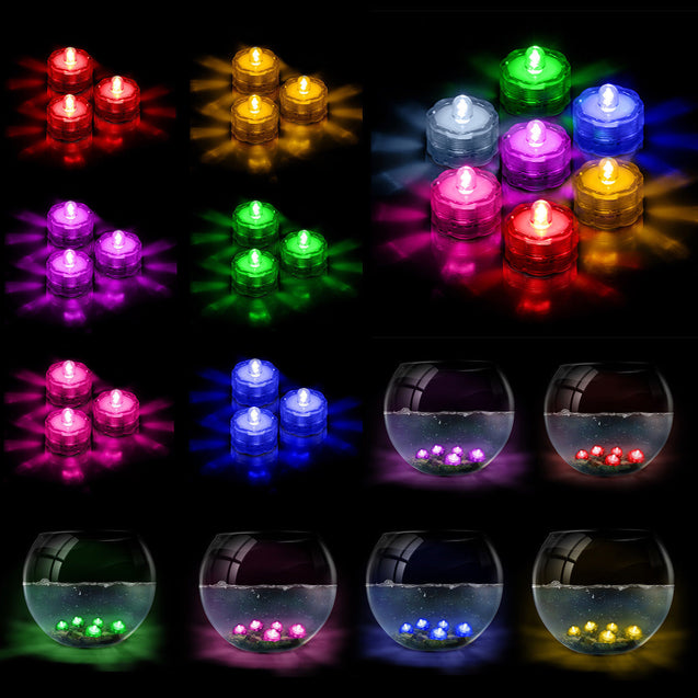LED Submersible Waterproof Wedding Holiday Decoration Party Tea Lights 3 6 12 24