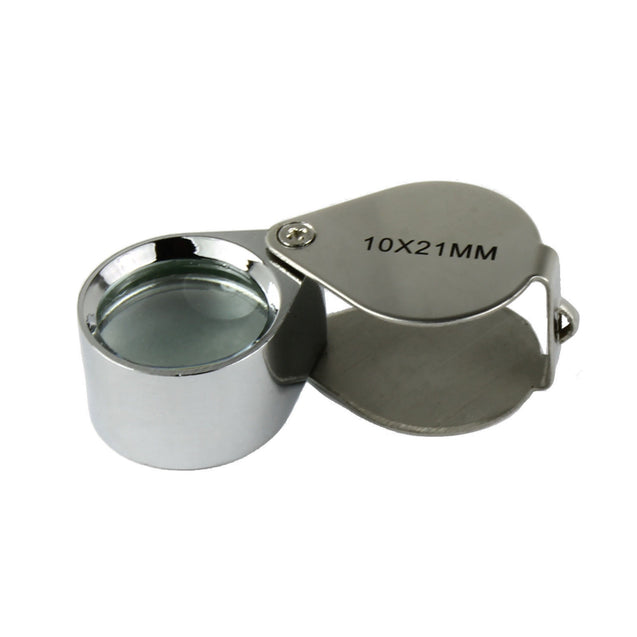 10X Jeweler  Loupe  Magnifier 10x21mm Magnifying Glass with storage case - Anyvolume.com