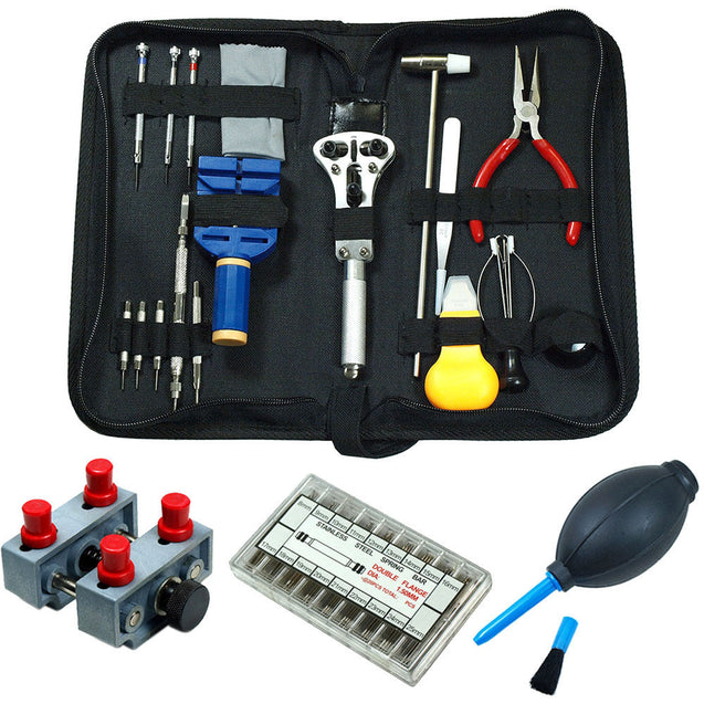 Watch Repair Tool Kit  - Case Opener / Link Remover / Spring Bars / Hand Remover - Anyvolume.com