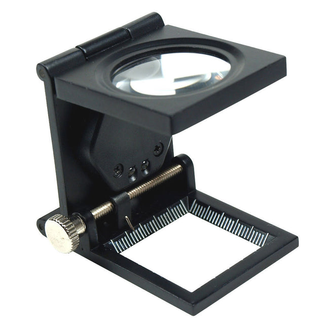 10X 30mm Foldable Lighted Magnifier / Loupe Jewelry Photo Sewing Thread Counter - Anyvolume.com