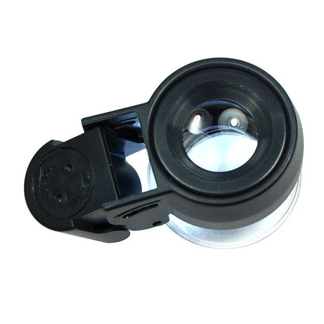 High Quality 10X Optical glass Lighted Magnifier 45X Jewelers Loupe with LED UV - Anyvolume.com